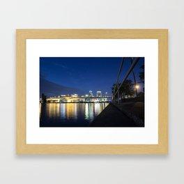 River Chills in Jacksonville Framed Art Print