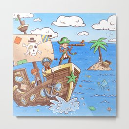 Even Pirates Need to Listen Metal Print