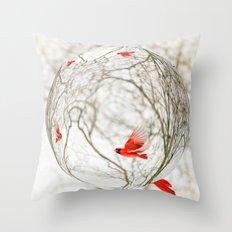 Cardinal Refraction Throw Pillow