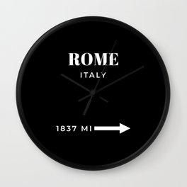 Rome Art Travel Art Rome Wall Art Italy Poster Black And White Fashion Poster Modern Home Decor Wall Clock
