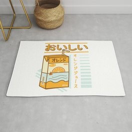 Japanese Aesthetic Orange Juicebox Rug