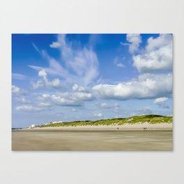 Beach, dune, sky, Canvas Print