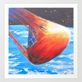 Apollo Reentry Art Print