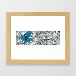butterfly-tangle landscape Framed Art Print