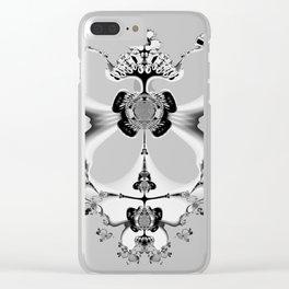 Fractal Art - Angel and Skelleton Clear iPhone Case