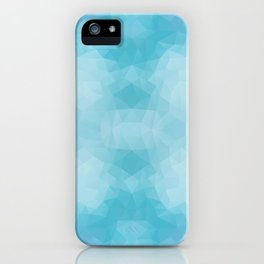 Kaleidoscopic design in blue colors iPhone Case