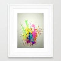 splatter Framed Art Prints featuring Splatter by smARTwork Designs
