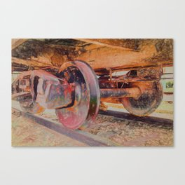 Clicky Clack on the Track Canvas Print
