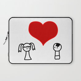 Cute boy and girl love doodle Laptop Sleeve