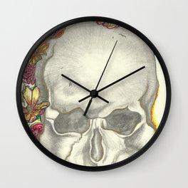 Skulls and Roses - Simple Wall Clock