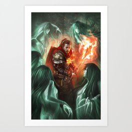 Burning Sun Cleric Art Print
