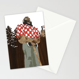 Paul Bunyan Statue (and Dancing Bare stripclub), Portland Oregon Stationery Cards