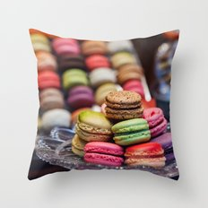Macarons, Paris Throw Pillow