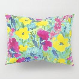 Wild Garden Aqua Pillow Sham