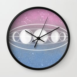 Pastellations Wall Clock