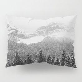 Landscape Photography Winter Wonderland | North Pole | Blizzard Forest Mountain Pillow Sham