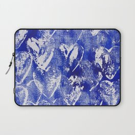 Hearts in blue and white Laptop Sleeve
