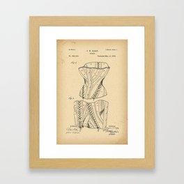 1884 Patent Corset Framed Art Print
