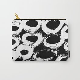 Minimal [4]: a simple, black and white pattern by Alyssa Hamilton Art Carry-All Pouch