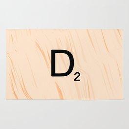 Scrabble Letter D - Large Scrabble Tiles Rug