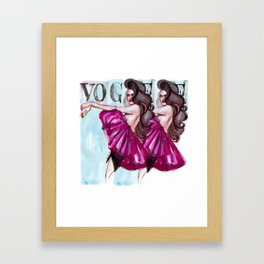 Strike that pose! Framed Art Print
