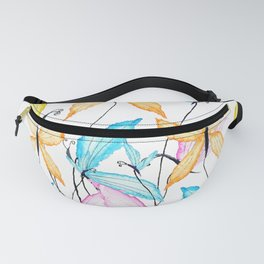 colorful flying butterflies Fanny Pack