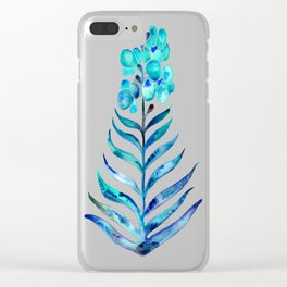 Blooming Orchid – Navy & Turquoise Palette Clear iPhone Case