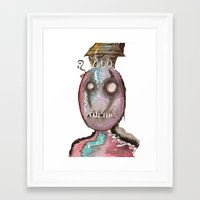 stitch Framed Art Prints featuring Stitch by Dead Rabbit
