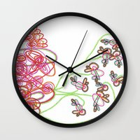 tequila Wall Clocks featuring Tequila Sunrise by Mary Holland