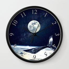 Stay in Space Wall Clock