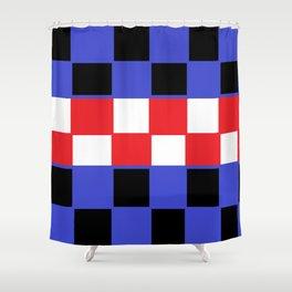 Chess board Shower Curtain