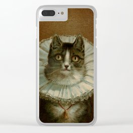 The Widow by Frederick Dielman Clear iPhone Case