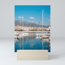 Docked in Salerno Mini Art Print
