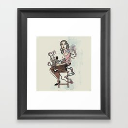 Zebra Girl Framed Art Print