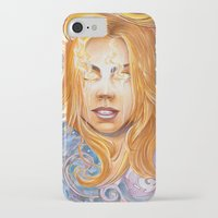 bad wolf iPhone & iPod Cases featuring Bad Wolf by Mountain Laurel Arts