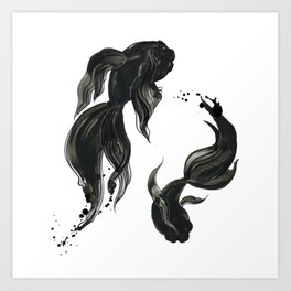 Koi fishes Art Print