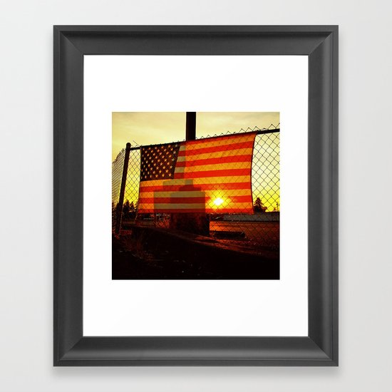America's sunset Framed Art Print