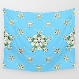Waterlily Snowflake Pattern Wall Tapestry