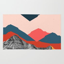 Graphic Mountains X Rug