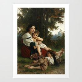 "William-Adolphe Bouguereau ""Reste"" Art Print"