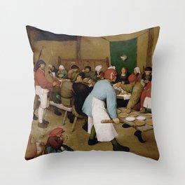 Peasant Wedding by Pieter Bruegel the Elder Throw Pillow