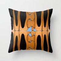 copper Throw Pillows featuring copper by Maureen Popdan