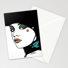 Green Eyeshadow  Stationery Cards