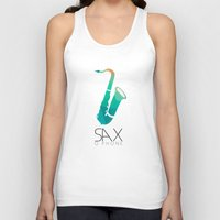 saxophone Tank Tops featuring SAXophone by Onie O