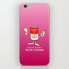 Tomato soup phone (pink) iPhone Skin