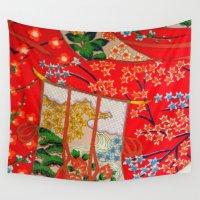 door Wall Tapestries featuring Door in the Sky by Ming Myaskovsky