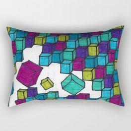 Impossible falling bricks Rectangular Pillow