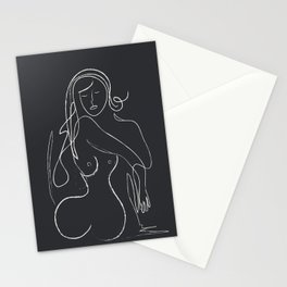 Abstract Minimalist Nude Woman VI Stationery Cards