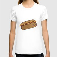 hot dog T-shirts featuring Hot Dog by Tuesday Logan