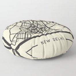 Abstract City Map - New Delhi, India Floor Pillow
